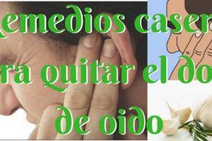 remedios caseros eficaces para el dolor de oídos