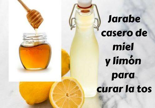 Jarabe casero de miel y limón para curar la tos