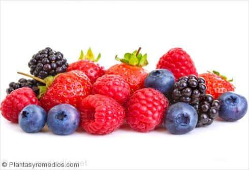 Los alimentos ricos en hidratos de carbono: Bayas