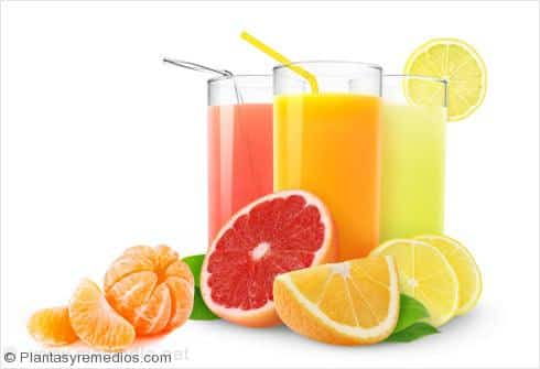 Los alimentos ricos en hidratos de carbono: Frutas citricas
