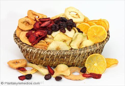 Los alimentos ricos en hidratos de carbono: Frutas secas
