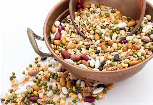 Los alimentos ricos en hidratos de carbono: Legumbres y frutos secos