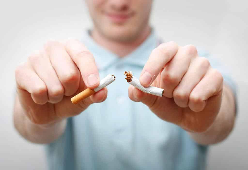 Quando deixado fumando peso ganho