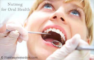 Nuez moscada para la Salud Oral