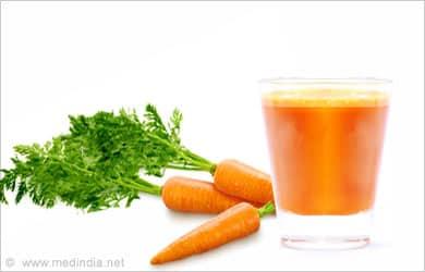 Remedios caseros para la pérdida de peso: Jugo de zanahoria