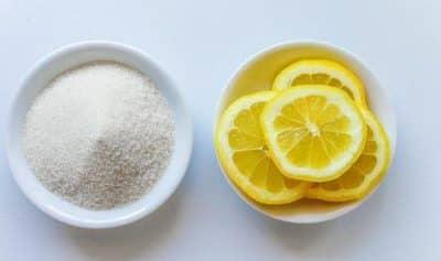 limon y azúcar para el vello facial mujeres