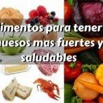 17 alimentos para fortalecer los huesos y saludables