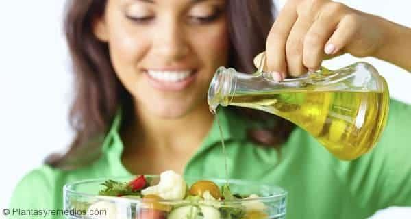 aceites en cada para bajar de peso y perder grasa (oliva , aceite salvado de arroz y aceite de coco )