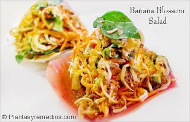 Ensalada de flor de plátano