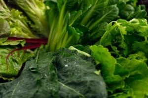 Comer hojas de vegetales para aliviar el estreñimiento