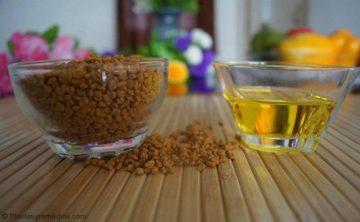 alholva y aceite de oliva para la esquina de los labios agrietados