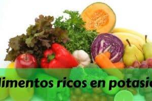 Lista de alimentos ricos en potasio