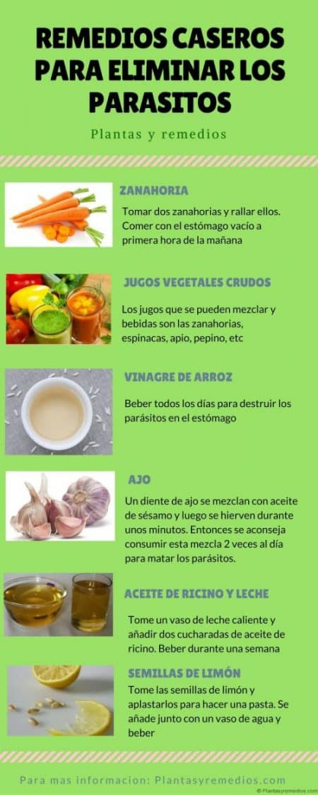 rasitos con remedios caseros
