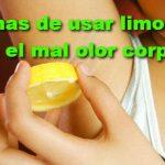 4 maneras de eliminar el mal olor del cuerpo con limón