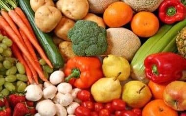 comer vegetales y frutas para curar los abscesos