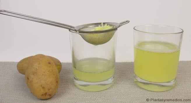 Como hacer jugo de patata