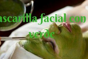 Mascarilla facial con té verde