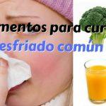 10 alimentos para curar el resfriado común
