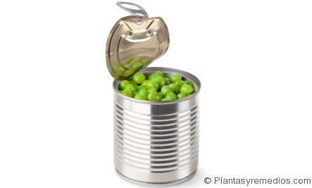 Guisantes en lata