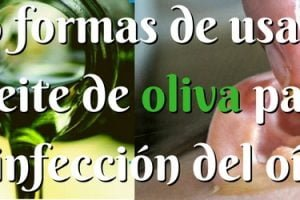 formas de usar aceite de oliva para la infección del oído