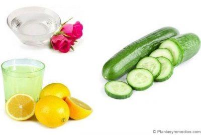 mascarilla de pepino, miel, agua de rosas para el bronceado