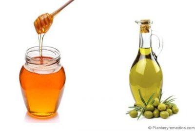 miel y aceite de oliva para el cabello seco