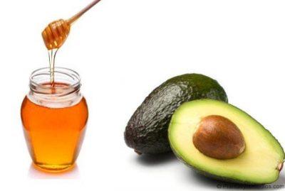 miel y aguacate para hidratar el cabello seco