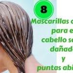 8 mascarillas caseras para el cabello seco, dañado y puntas abiertas