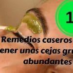 14 remedios caseros para tener cejas gruesas