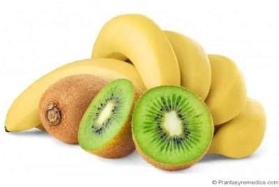 kiwi y banana para las arrugas