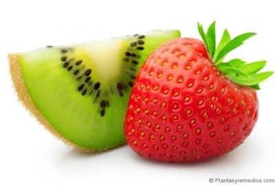 mascarilla de kiwi y fresas para las arrugas